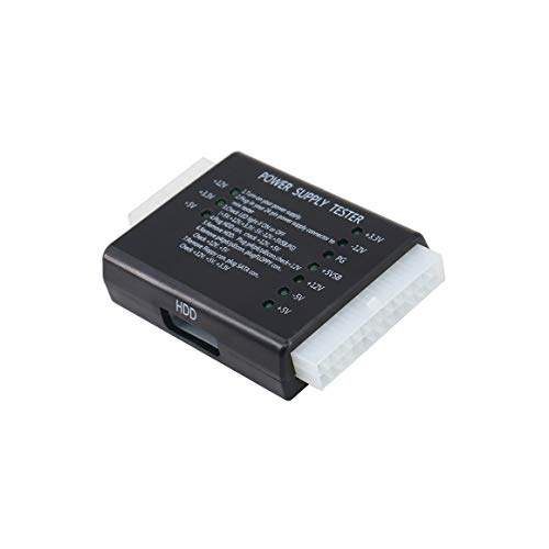 Black Serial Power Supply - Tan QY PC Power Supply Tester 20/24 Pin PSU ATX SATA HDD (Black)
