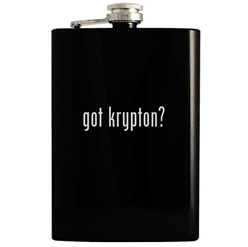 (got krypton? - Black 8oz Hip Drinking Alcohol Flask)