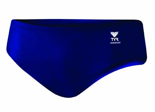 - TYR Men's Durafast Elite Solid Racer Swim Suit (Navy, 36)