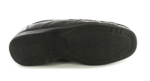 Hombre/Hombre Negro Cordones Mocasín Estilo Zapatos Formales Negro - GB Tallas 6-12