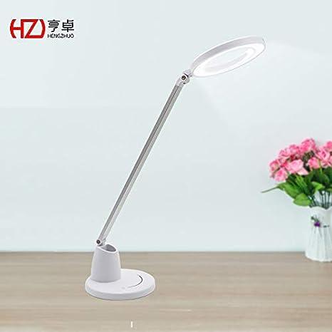 Lámpara de mesa pequeña y blanca, moderna y minimalista, con ...