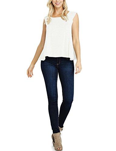Spring Womens Cap Sleeve T-shirts (Tom's Ware Womens Basic Cap Sleeve Loose T-Shirt Top (Made in USA) TWAWD153A-IVORY-US L)