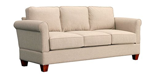 Furniture For Living A1L1-Ala Gregory Rta Sofa with Oak Legs, Alabaster - Alabaster Sofa