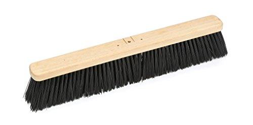 Harper Brush 143512 Broom Head, Polypropylene Fiber, Outdoor, Rough Wet or Dry Surface, Hard Wood, 24'' (Pack of 6) by Harper