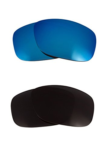 Best SEEK Polarized Replacement Lenses for Oakley CRANKSHAFT Black Blue - Best Crankshaft