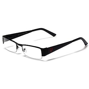 Small Rectangular Clear UV Lens Sunglasses RX Mens Womens Eye Glasses Flex Frame