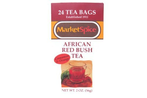 Marketspice Teabags Cinnamon Orange African Red Bush (Rooibos) 2 oz Box of 24 (Pack of - Red Bush African