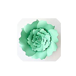 Wild-World DECOR 1pcs 30cm DIY Artificial Paper Flowers Wedding Decoration Backdrop Happy Birthday Party Paper Crafts DIY Event Supplies,Light Green 60
