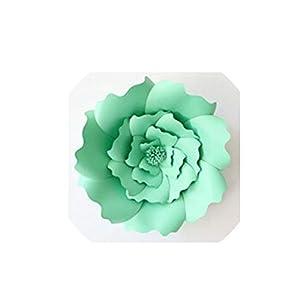 Wild-World DECOR 1pcs 30cm DIY Artificial Paper Flowers Wedding Decoration Backdrop Happy Birthday Party Paper Crafts DIY Event Supplies,Light Green 26