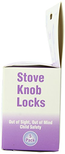 KidKusion Stove Lock, Clear, 5-Count