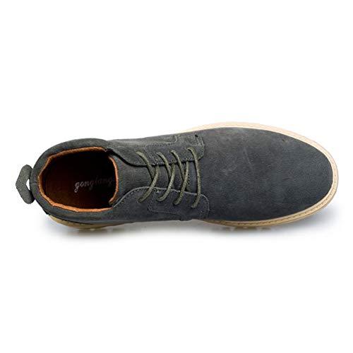 Inverno Caviglia Top Alto Casual Flats in Neve Grigio Formatori Business Pelle Stivali Uomini Sneakers Scarpe wqzI1gn