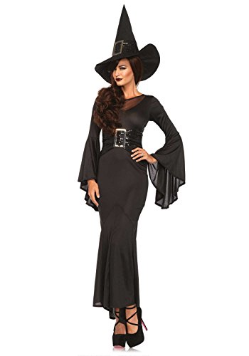 [Leg Avenue Women's 2 Piece Wickedly Sexy Witch Costume, Black, Small/Medium] (Witch Dresses)