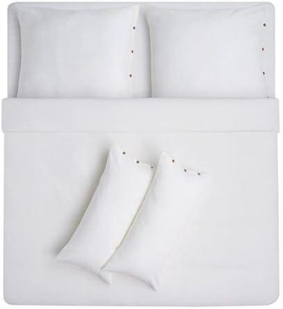 Schweden Ikea Suede Ikea Ikea Vagtistel Parure De Lit 5 Pieces Blanc 240 X 220 Cm Lin Coton Boutonniere Amazon Fr Cuisine Maison