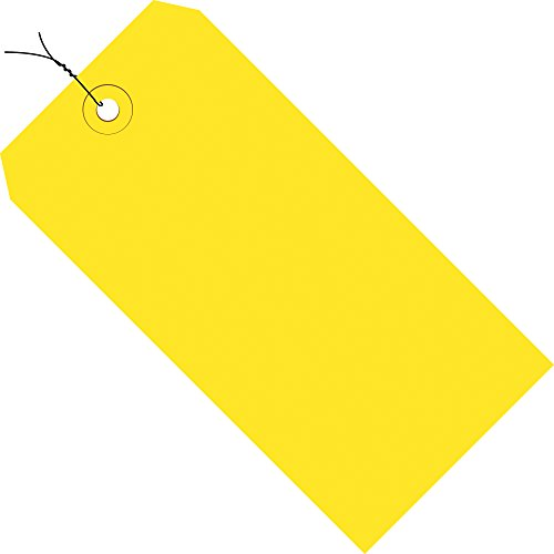 Aviditi G11053C 13 Point Cardstock Pre Wired Shipping Tag, 4-3/4