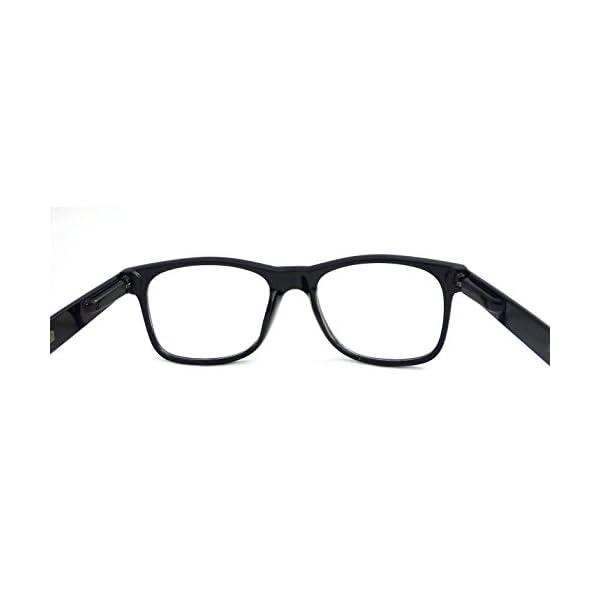 d06c1bf602f RETRO NERD Geek Oversized BLACK Framed Spring Temple Clear Lens Eye ...