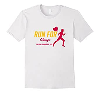 Men's Run For Change 2017 National Running Day T-Shirt 3XL White