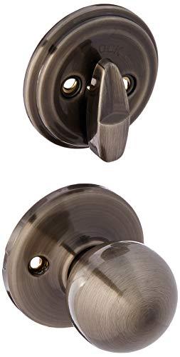 Kwikset 966P-15A Polo Interior Single Cylinder Handleset Trim Antique Nickel Finish Dark Antique Nickel Finish