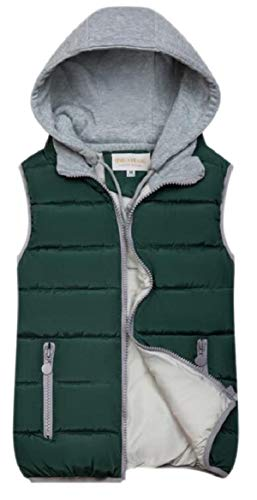 security Womens Outwear Cotton Padded Sleeveless Winter Puffer Hoodie Slim Fit Vest 3