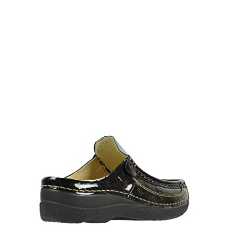 Wolky Womens Jewel Leather Sandals Dunkel-grau u8g8xRa0PY