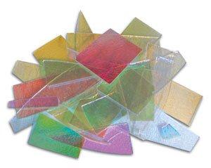 Dicroic Glass (1/2 Lb Cbs Dichroic Scrap On Thin Clear - 96 Coe)
