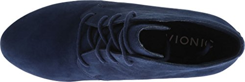 Vionic Elevated Bootie Wedge Navy Women's Becca SfxwqF4S