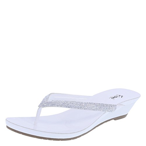 174178d8bf Fioni Women's White Women's Quinn Embellished Low Wedge 9.5 Regular - Buy  Online in UAE. | Apparel Products in the UAE - See Prices, Reviews and Free  ...