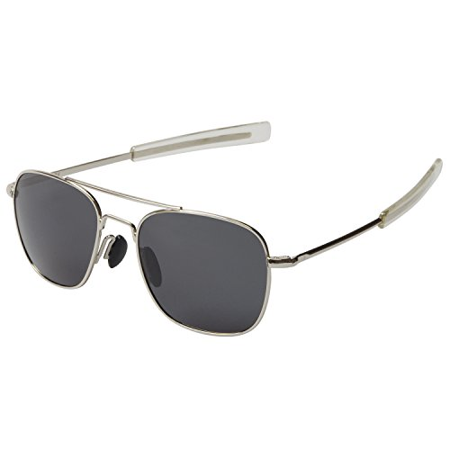 Gray Pilot Sunglasses - 3