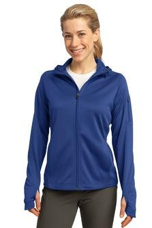 Sport Tek; Ladies Tech Fleece Full Zip Hooded Jacket. L248-simple by Sport-Tek