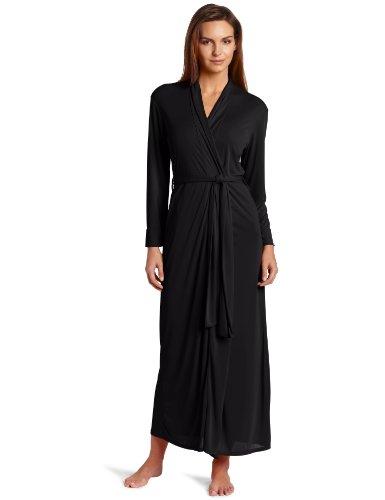(Natori Women's Enchant Slinky Robe, Black, Large )