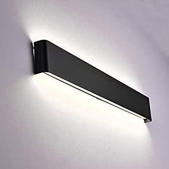 Aipsun 24W / 27.9in Rectangular LED Matte Wall Mount Sconce Modern Up and Down Wall Lamp for Indoor Vanity Light Pathway Staircase Bedroom Corridor Living ...