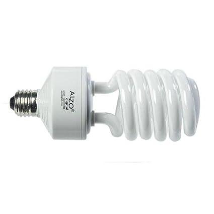 Alzo 45 W luz feliz Full Spectrum CFL bombilla 5500 K, 2800 lúmenes, 120