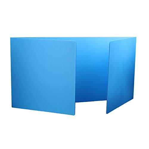 Corrugated Study Carrel - Flipside Blue Premium Study Carrels, Pack of 24