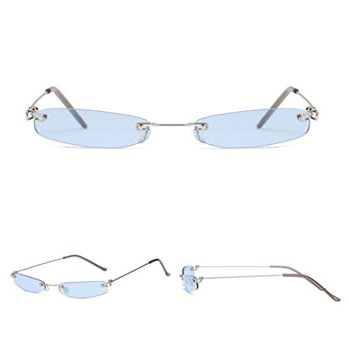 Lunettes Bleu Lunettes Mode Sharplace Accessoire Vintage Soleil de Rétro UV Protection Lentille Unisexe ZFn7xFU