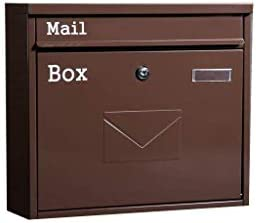 ZXPzZ-メールボックス 外郵便受け耐候性、ビラメールボックス防水ポストボックス大きな金属ロック可能なウォールレターポストをマウントウォールマウント -メール収集