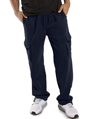 Ma Croix 5R Mens Fleece Cargo Sweatpants (Medium, 1r502_Navy)