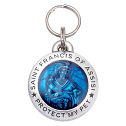 (Pup Life Personalized Dog Tag with Engraving - St Francis of Assisi (Regular Blue))
