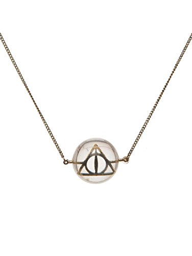 Harry Potter Necklace Deathly Hallows Symbol In Acrylic Bubble Official