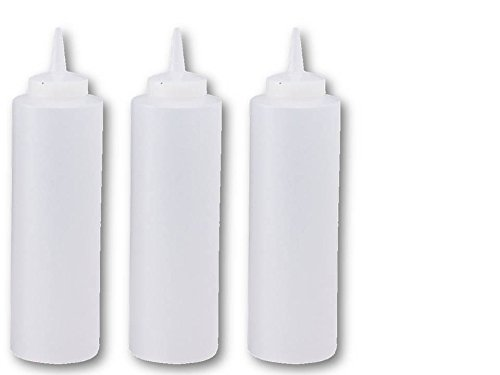 Great Credentials Squeeze Bottles Clear Set of 3, 24-oz (24 OZ.)