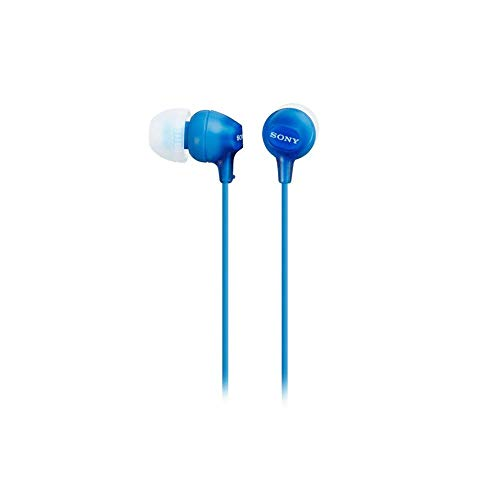 Renewed  Sony MDR EX15AP In Ear Stereo Headphones with Mic  Blue