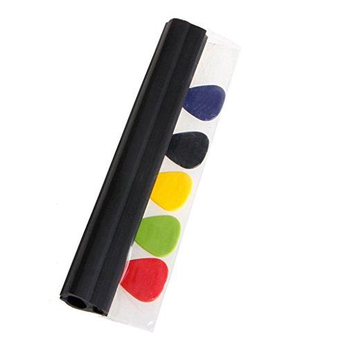 ULKEME Black Rubber Electronic Guitar Pick Holder Music Mic Microphone Stand Picks