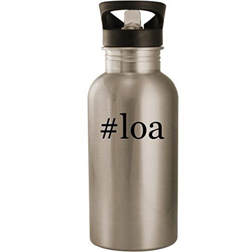 #loa - Stainless Steel Hashtag 20oz Road Ready Water Bottle, Silver