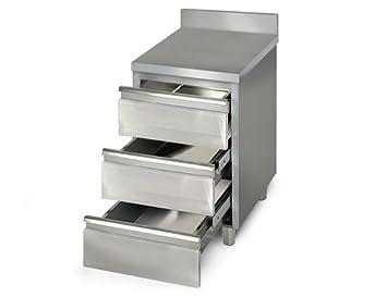 Outdoor Küche Edelstahl Schubladen : Goo gastro go2452g gewerbe schubladenschrank 0 5m mit 3 schubladen