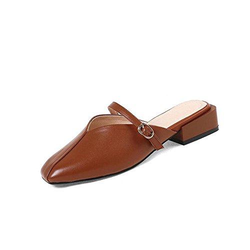 Tacco Primavera Quadrata Grezzo Testa Colore Shoe 38 da Donna Sugar Basso Sandali ed Casual Pantofole Banana Estate Fibbia store Dimensioni qE8w8CS