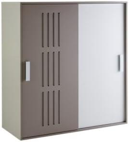 Demeyere 484341 Armario con 2 Puertas correderas Texto, 135.1 X 142,2 x 55 cm, Color Blanco/Sonido: Amazon.es: Hogar