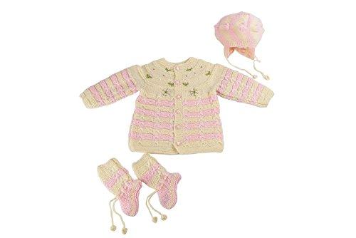 f6b778587 Kuchipoo Unisex Hand Knitted Woollen Clothing Set (KUC-SUT-625 Cream ...