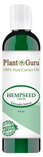 Hemp Seed Oil 4 oz. Virgin, Unrefined 100% Raw Pure Natural