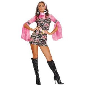 girl hippy fancy dress ladies costume uk