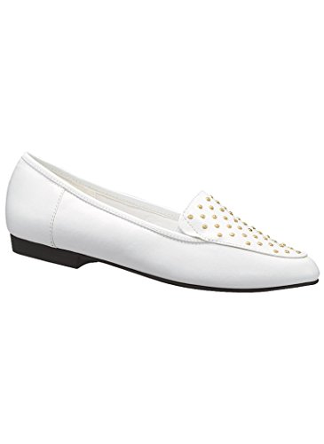 Amerimark Womens Adulte Emily Robe Flat Flats Chaussures Compléments Exclusifs Blanc