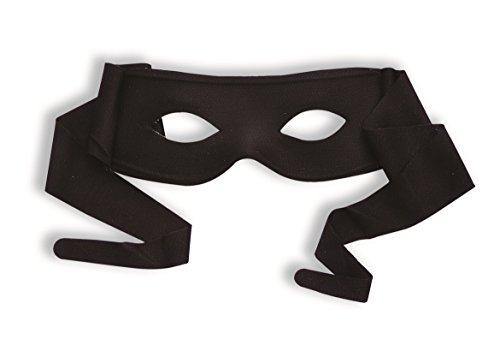 Funny Fashion Zorro Black Bandit Superhero Cloth Eye Mask Costume Accessory Tie On ()