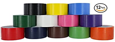 Ram-Pro Colored & Fluorescent Styles Heavy-Duty Duct Tape | Assorted Colors, 1.88-inch x 10 Yard.